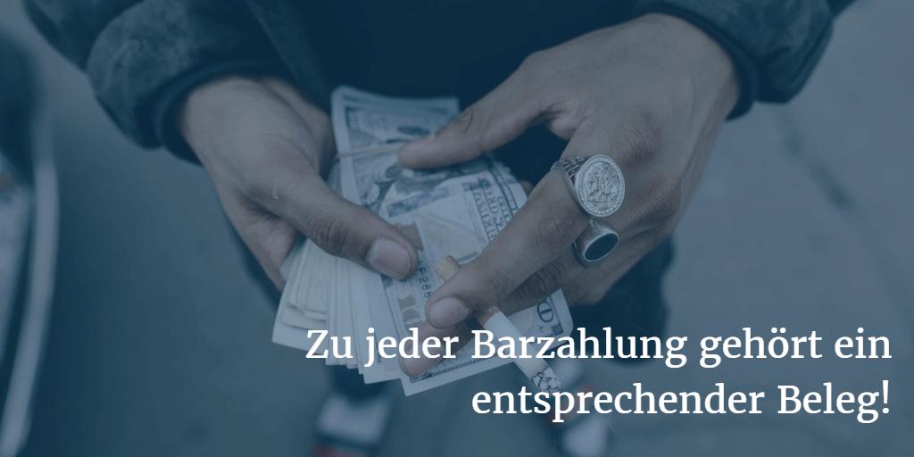 Beleg Barzahlung