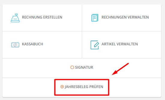 Jahresbeleg Registrierkasse
